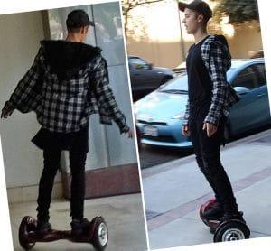 Justin Bieber con Hoverboard