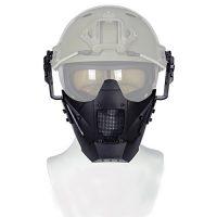 Casco táctico con máscara de malla de media cara, protección ajustable para Airsoft Paintball CS [OFERTAS]