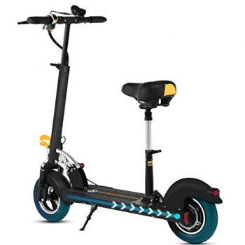 XULONG Scooter Eléctrico para Adultos, Mini Portátil Plegable con Asiento Plegable De 10 Pulgadas 700 W 200 Kg Load35km / H para Trabajar Conmutar Viaje En El Centro Regalo De Cumpleaños [OFERTAS]
