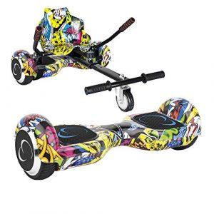 SmartGyro X2 UL + GO KART PACK STREET – Patín eléctrico X2 UL ( Hoverboard 6'5″ con Ruedas Run-Flat) y Accesorio Go Kart Pro (Sillin adaptable), color multicolor [OFERTAS]