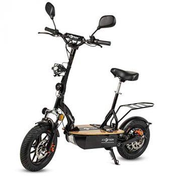 ECOXTREM Patinete, Scooter Tipo Moto Eléctrico, Plegable, con Sillín Desmontable, Luz Foco y luz LED de Freno. Ideal para desplazamientos urbanos. Motores 1200W y 2000W [OFERTAS]