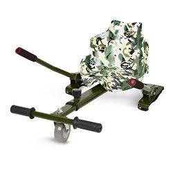 ECOXTREM Hoverkart, Asiento Kart, Oliva diseño Pintura, con manillares Laterales, Barra Ajustable. Accesorio para patinetes eléctricos Hoverboard 6'5″, 8″ y 10″ para Paseos más cómodos. [OFERTAS]
