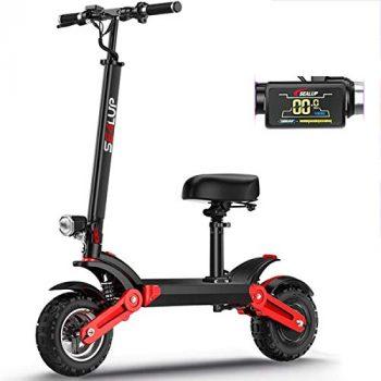 L&WB Scooter eléctrico todoterreno plegable y portátil,
